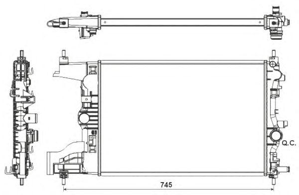 Радиатор, охлаждение двигателя NRF 53155