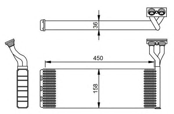 Радиатор отопителя NRF 54285