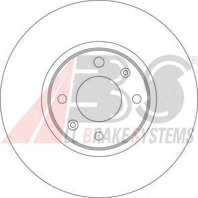 Тормозной диск A.B.S. 16901