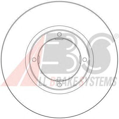Тормозной диск A.B.S. 17067