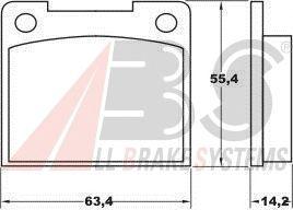 Тормозные колодки A.B.S. 36037