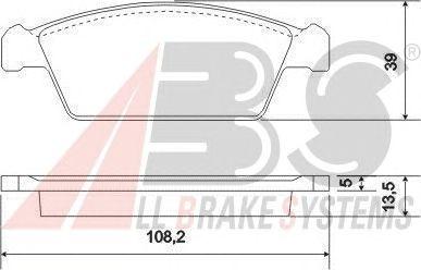 Тормозные колодки A.B.S. 37002
