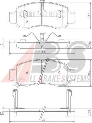 Тормозные колодки A.B.S. 37314