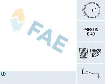 Датчик давления масла FAE 12991