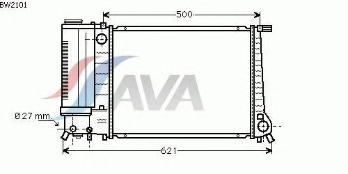 Радиатор, охлаждение двигателя AVA QUALITY COOLING BW2101