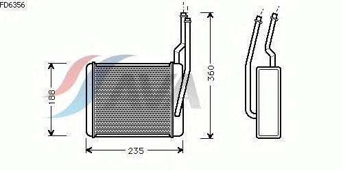 Радиатор отопителя AVA QUALITY COOLING FD6356