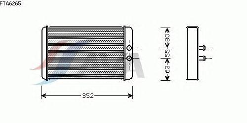 Радиатор отопителя AVA QUALITY COOLING FTA6265