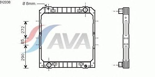 Радиатор, охлаждение двигателя AVA QUALITY COOLING IV2038