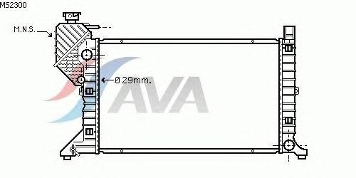 Радиатор, охлаждение двигателя AVA QUALITY COOLING MS2300