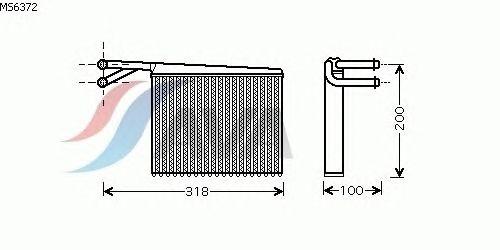 Радиатор отопителя AVA QUALITY COOLING MS6372