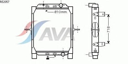 Радиатор, охлаждение двигателя AVA QUALITY COOLING RE2057