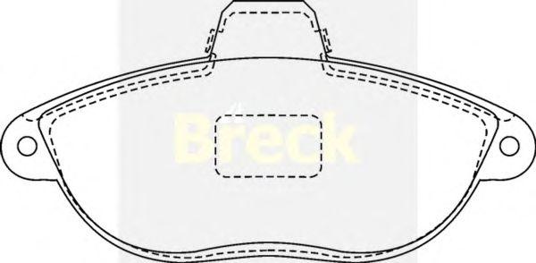 Тормозные колодки BRECK 23042 00 701 10