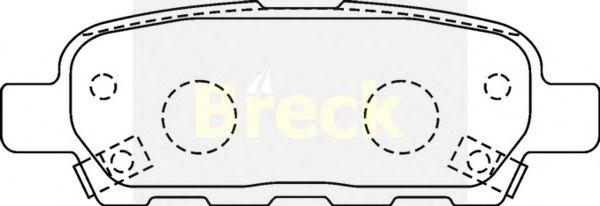 Тормозные колодки BRECK 23871 00 702 10