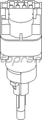 Выключатель фонаря сигнала торможения TOPRAN 110 827