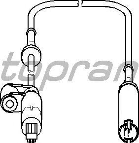 Датчик вращения колеса TOPRAN 500 882
