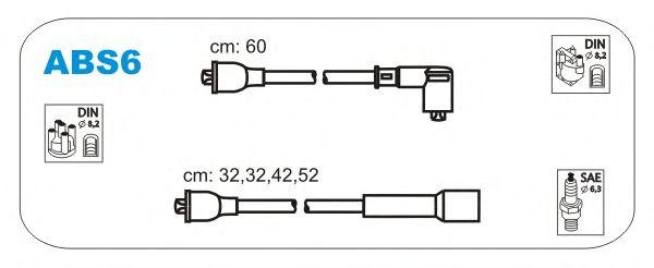 Комплект высоковольтных проводов JANMOR ABS6