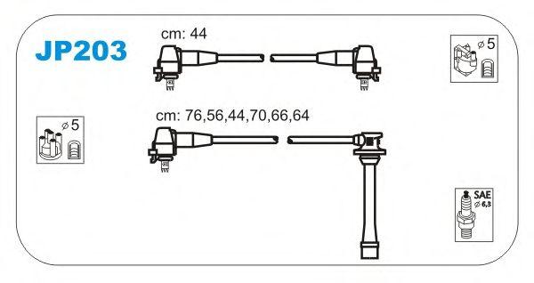 Комплект высоковольтных проводов JANMOR JP203