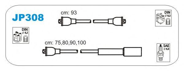 Комплект высоковольтных проводов JANMOR JP308