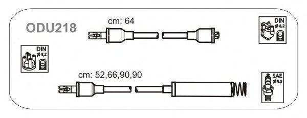 Комплект высоковольтных проводов JANMOR ODU218