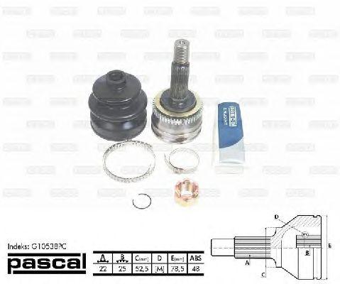 Комплект ШРУСов PASCAL G10538PC
