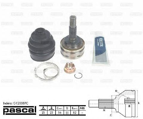 Комплект ШРУСов PASCAL G12008PC