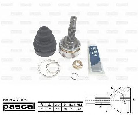 Комплект ШРУСов PASCAL G12046PC