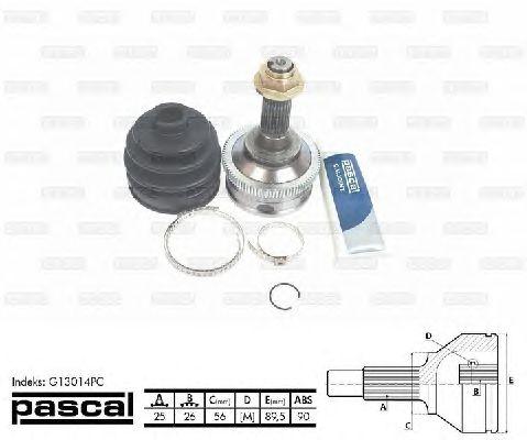 Комплект ШРУСов PASCAL G13014PC