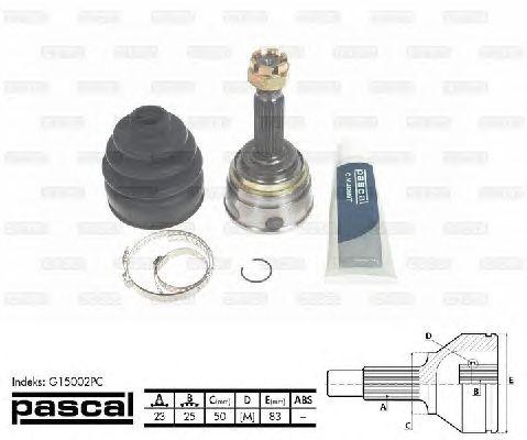 Комплект ШРУСов PASCAL G15002PC