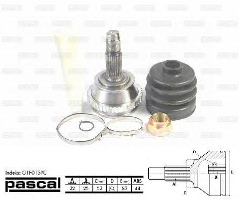 Комплект ШРУСов PASCAL G1F015PC