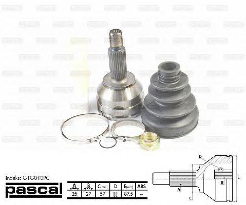 Комплект ШРУСов PASCAL G1G010PC