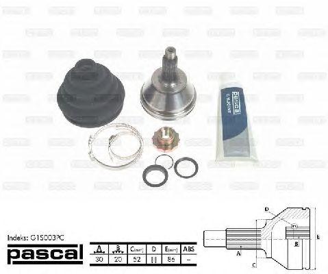 Комплект ШРУСов PASCAL G1S003PC