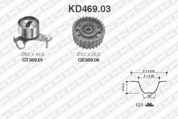 Комплект ремня ГРМ SNR KD469.03