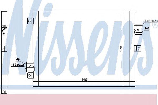 Радиатор кондиционера NISSENS 940190