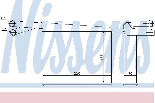 Радиатор отопителя NISSENS 72043