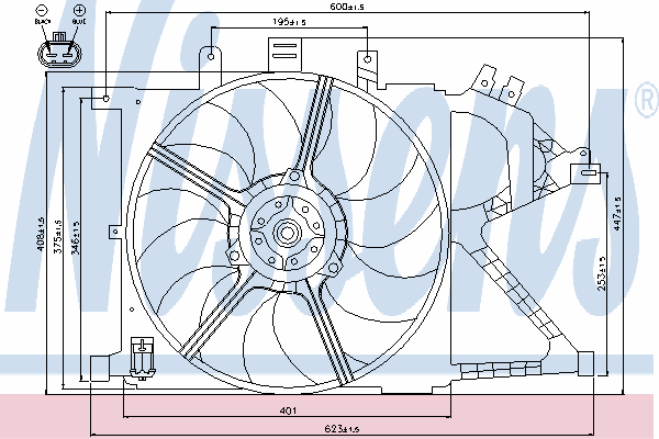 Вентилятор охлаждения NISSENS 85195