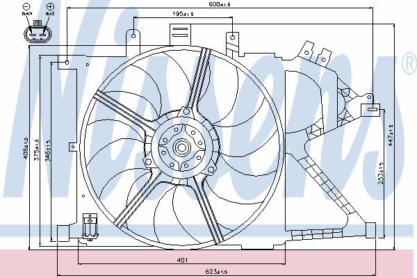 Вентилятор охлаждения NISSENS 85196