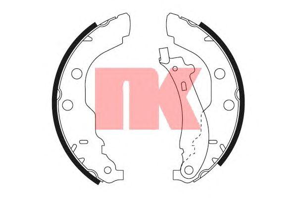 Тормозные колодки NK 2737582