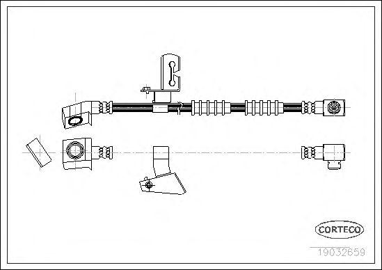 Тормозной шланг CORTECO 19032659