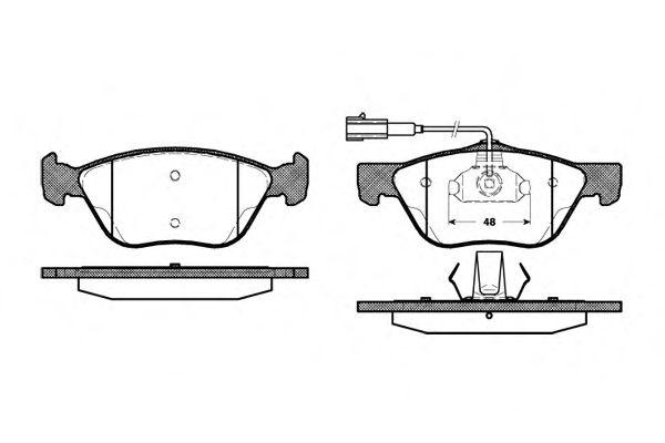 Тормозные колодки REMSA 0589.22