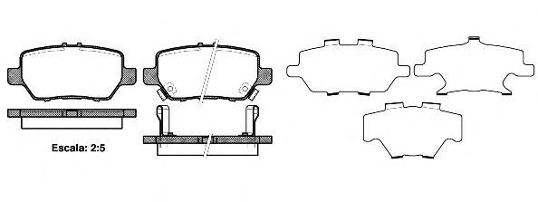 Тормозные колодки REMSA 1168.02