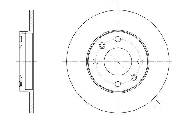 Тормозной диск REMSA 6130.00