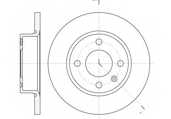 Тормозной диск REMSA 6425.00