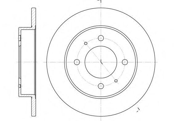 Тормозной диск REMSA 6627.00