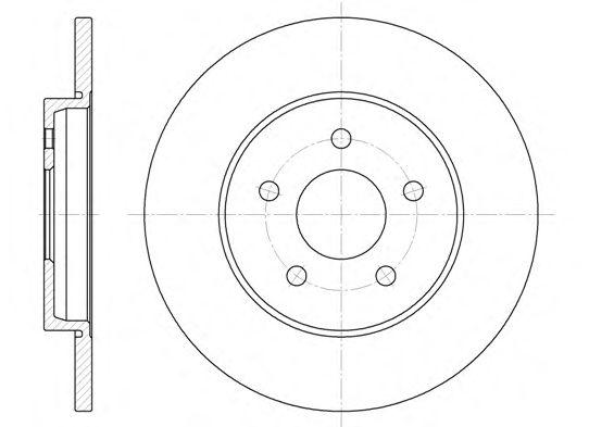 Тормозной диск REMSA 6661.00