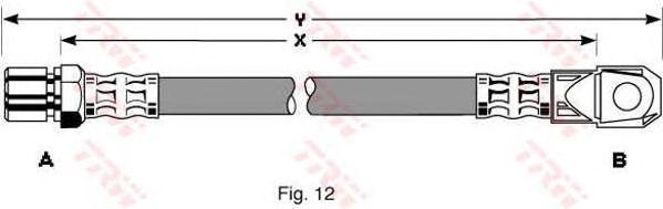 Тормозной шланг TRW PHD264