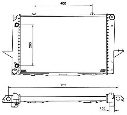 Радиатор, охлаждение двигателя NRF 519509