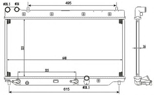 Радиатор, охлаждение двигателя NRF 53110