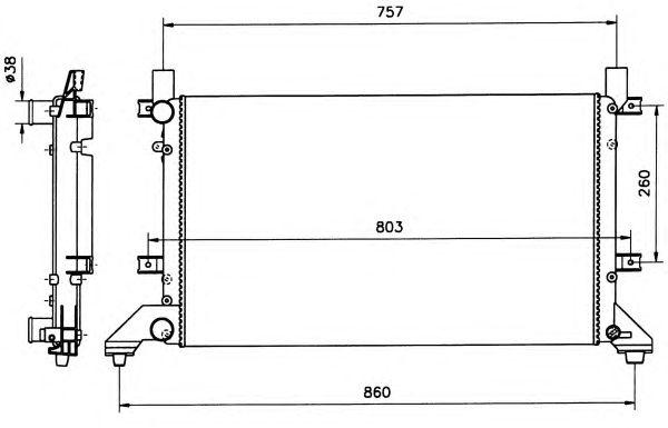 Радиатор, охлаждение двигателя NRF 58240