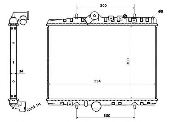 Радиатор, охлаждение двигателя NRF 58351