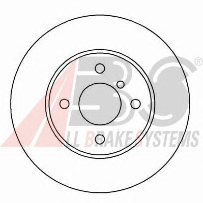 Тормозной диск A.B.S. 15767